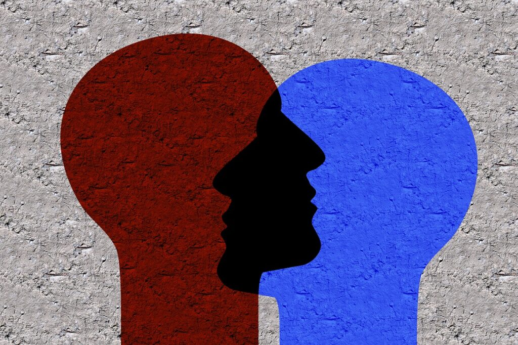 Face Faces Dialogue Talk Psyche  - geralt / Pixabay